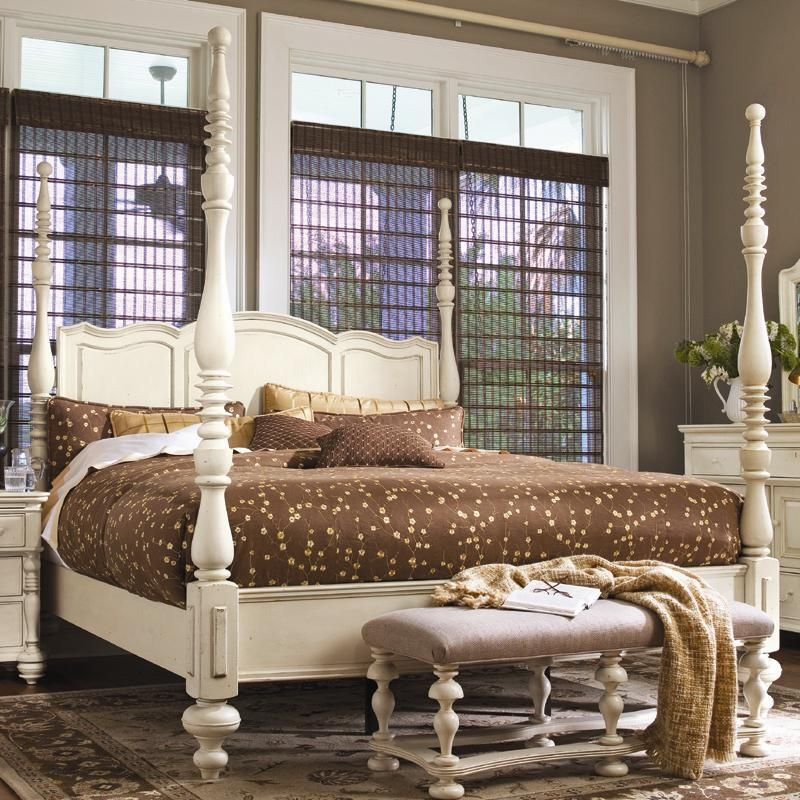 Paula Deen Home King Savannah Poster Bed With 3 Post Options By Universal Wolf Furniture