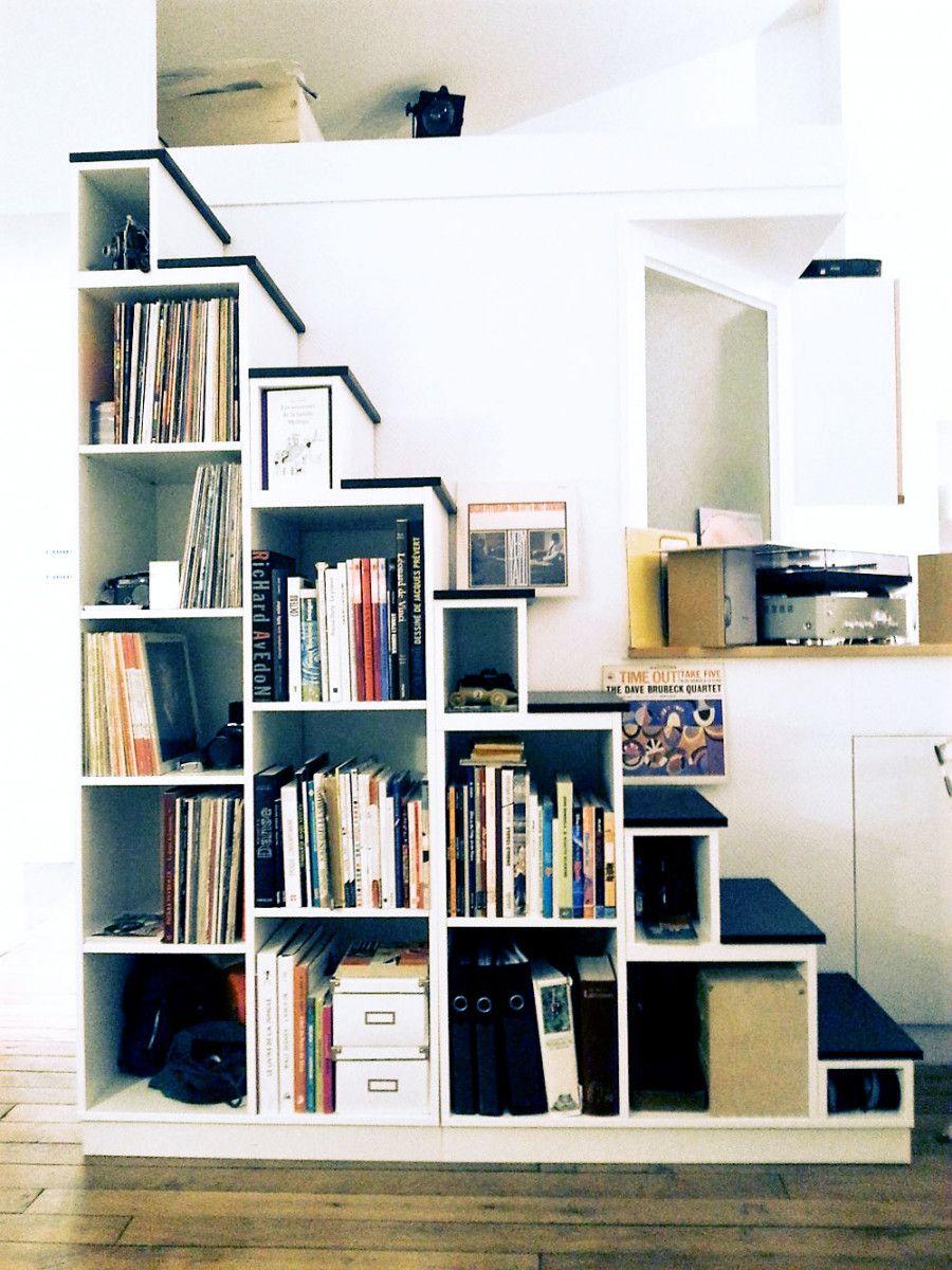 meuble escalier bois vintage sur mesure meubles sur. Black Bedroom Furniture Sets. Home Design Ideas