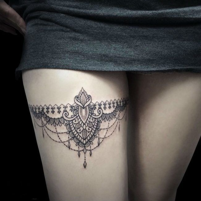 Photo of 70+ charming garter tattoo designs – with a totem to keep in touch with your feminism – tattoo ideas