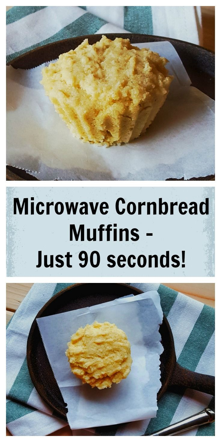 Microwave Cornbread Muffin @shawsimpleswaps Healthy, Ready in 60 seconds with under 5 ingredients!