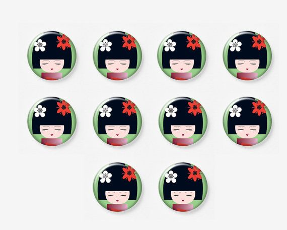 10 pcs 12mm Photo Glass Cabochons Cabs Dolls by mixnmatchsupplies, $2.88