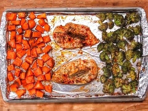 One Pan Chicken And Veggies - YouTube