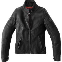 Photo of Spidi Vintage Ladies Motorcycle Leather Jacket Black 42 Spidi