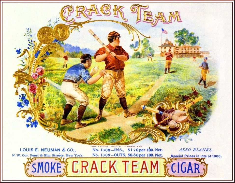 1919 Buffalo Bison Smoke Vintage Cigar Tobacco Box Crate Inner Label Print