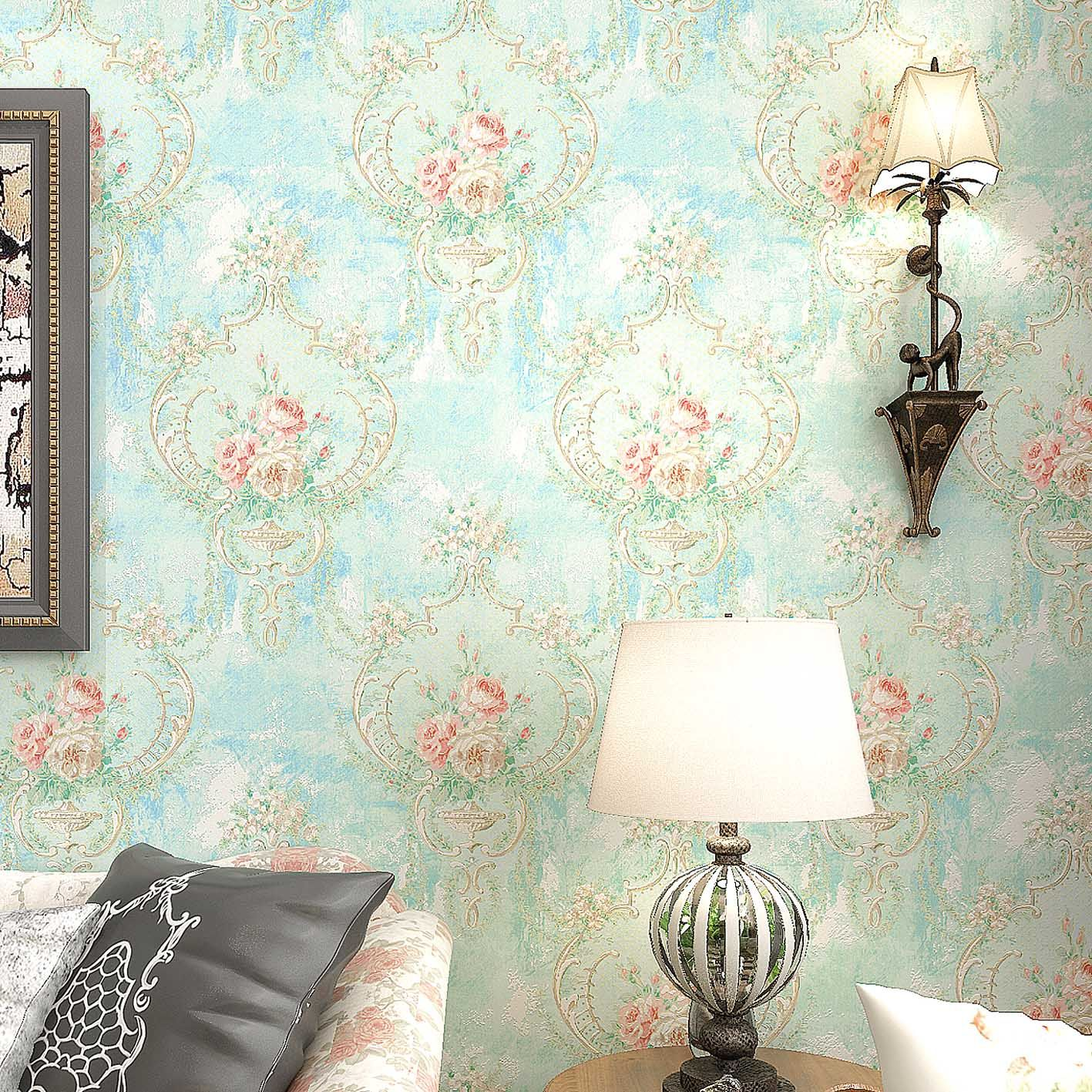 American Style Rustic Vintage Wallpaper Romantic Floral