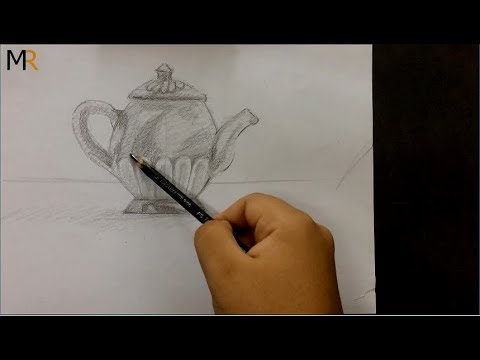 تعليم الرسم ابريق شاى Youtube Youtube
