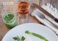 Filetes de pescado en salsa de perejil. Receta