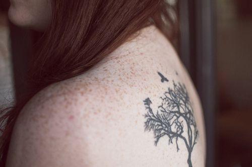 Tattoo bird tree
