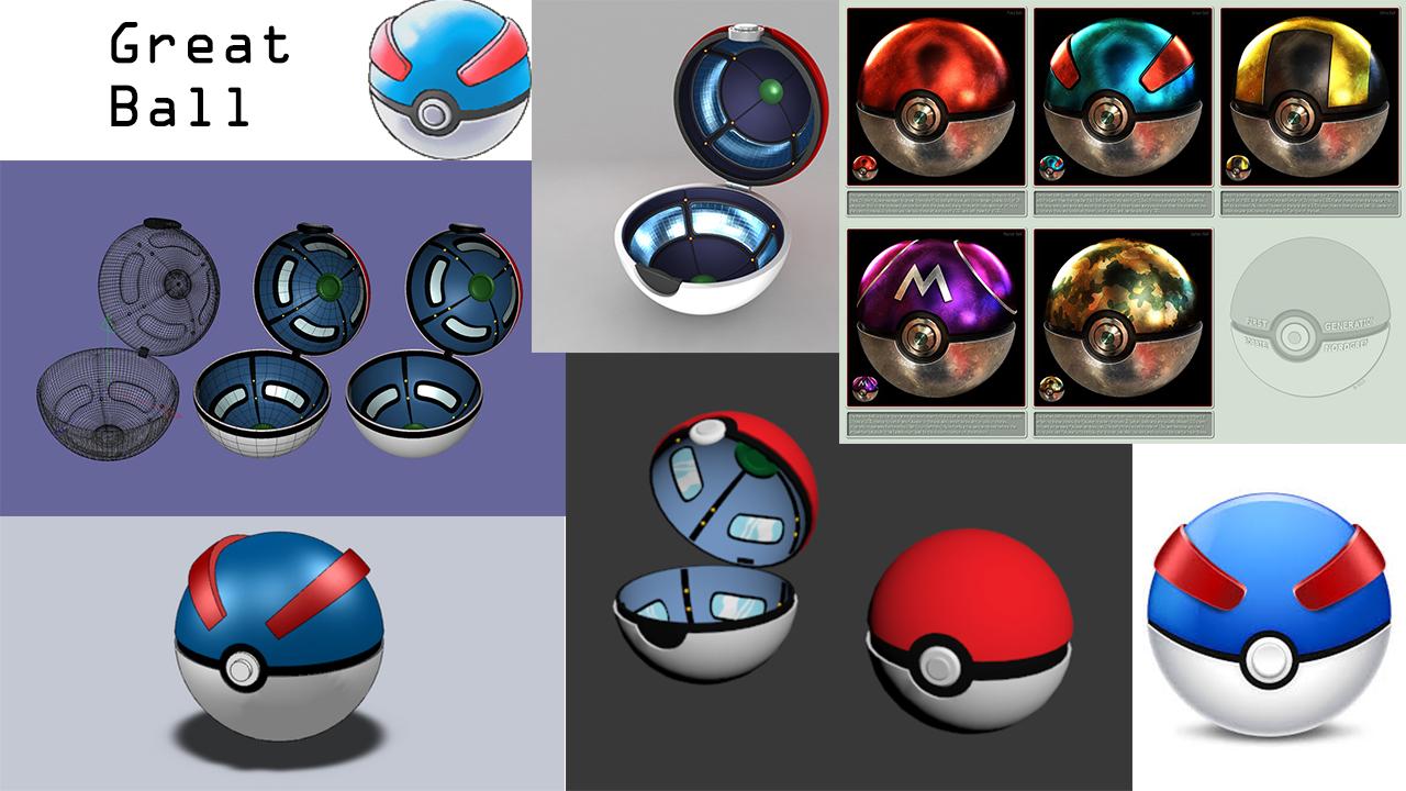 Great Ball And Pokeball Reference Pokemon Pokeball Mood Boards