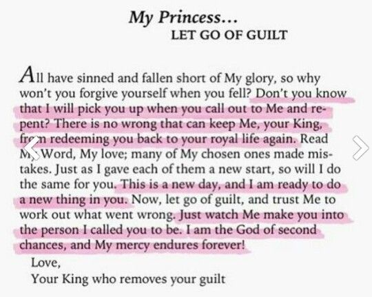 For those who struggle with guilt.. Let go for He has already forgiven you ^.^