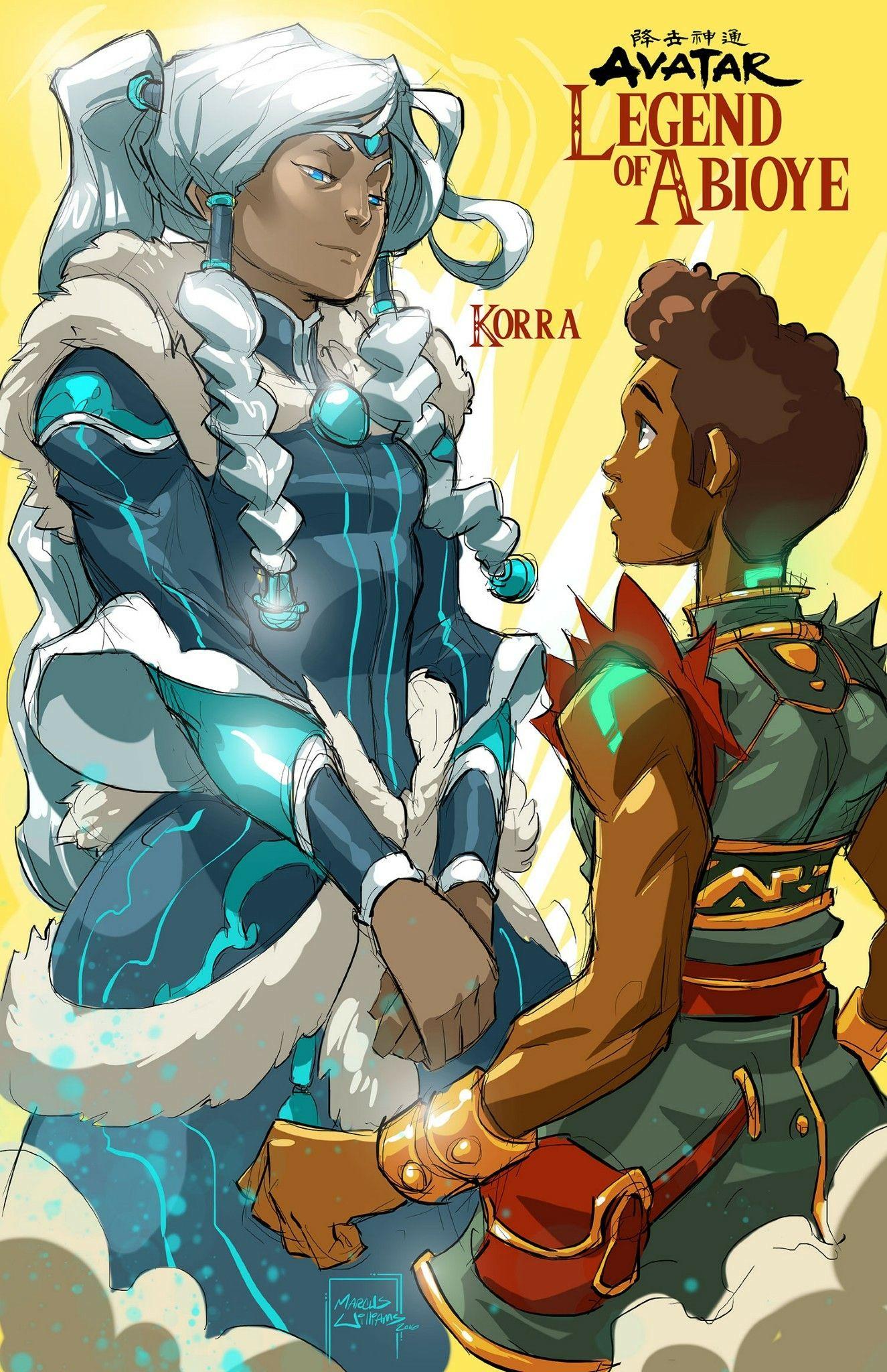Abioye meets korra black anime characters avatar
