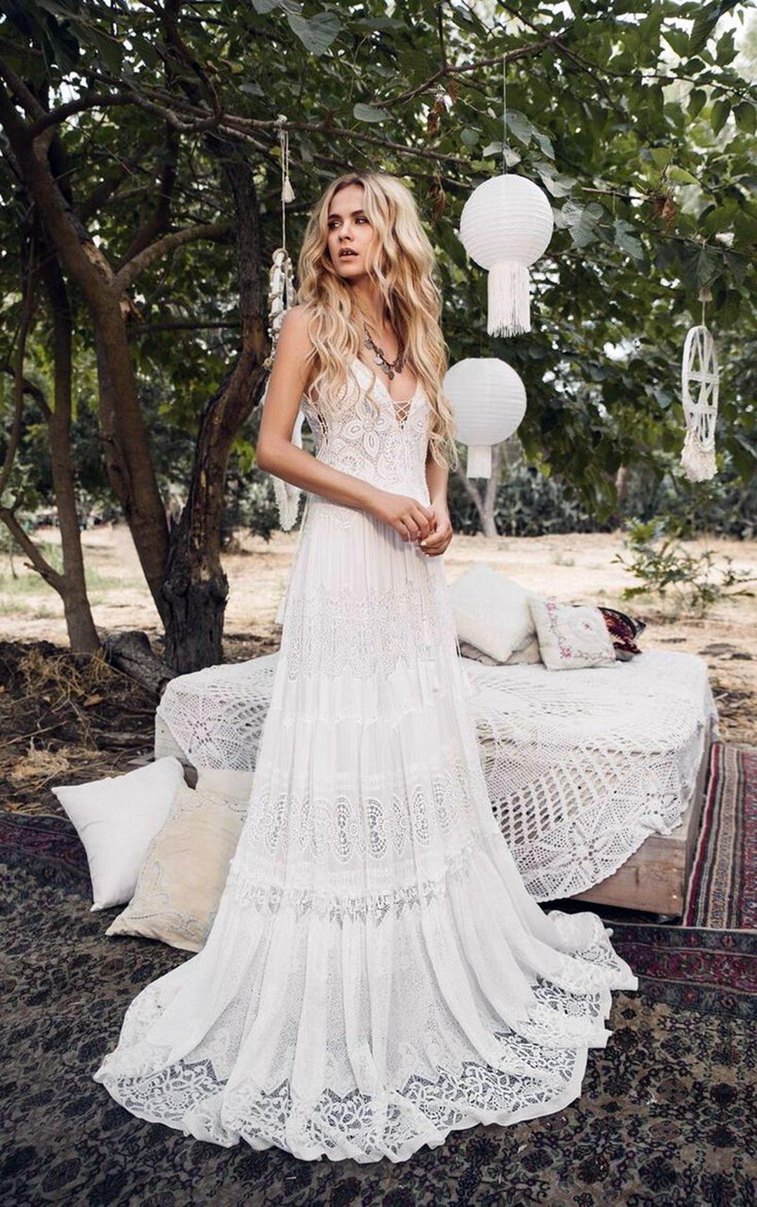 13 Pretty Bohemian Wedding Dresses Models For Your Summer Wedding Inspiration Wedding Dresses Vintage Bohemian Boho Wedding Dress Lace Bohemian Wedding Dresses [ 1723 x 1080 Pixel ]