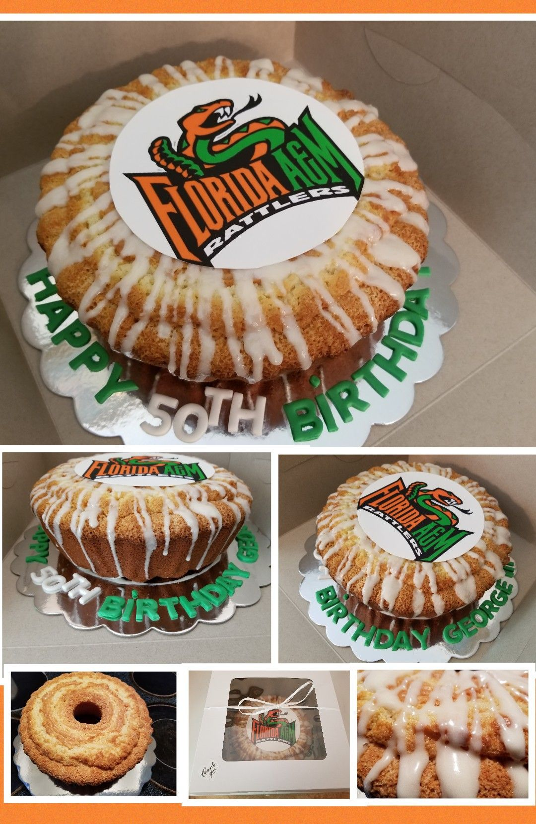 Famu Theme Birthday Pound Cakewhipping Cream Pound With Edible