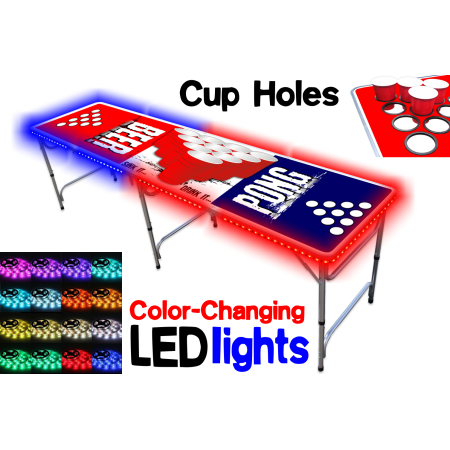 Sports & Outdoors Beer pong tables, Led glow lights