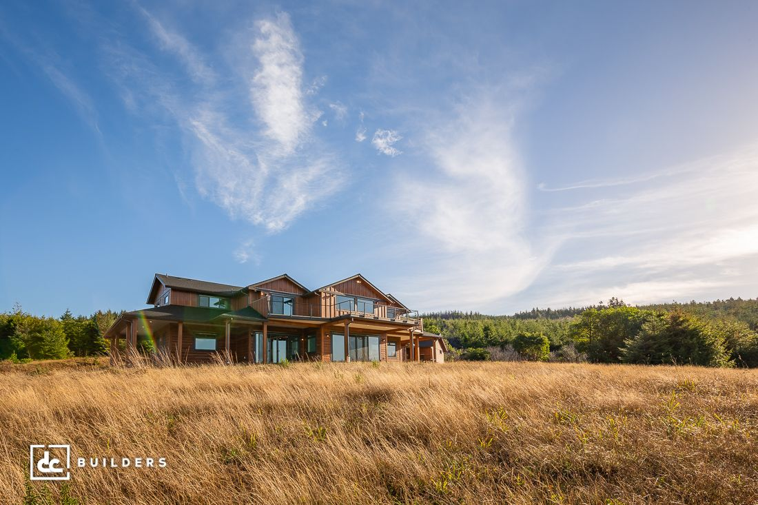 A distant shot of this custom home in gold beach oregon