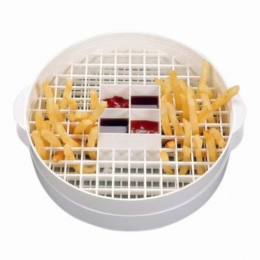 When a French fry craving strikes, don't order fast food, make food fast.  The Microwave French Fry Maker & Server is quick, easy and healthy.