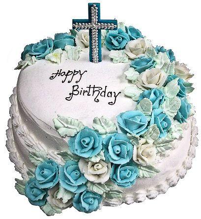 Christian Birthday Cake Birthday Cakes Pinterest Birthday