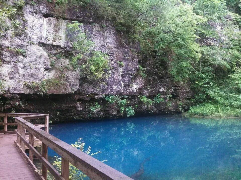 Blue Springs feeds into the Current River near Eminence