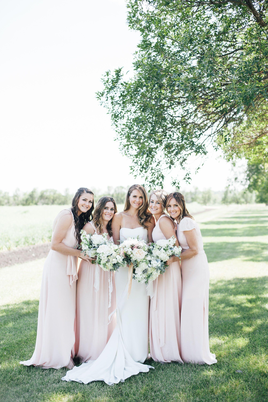 Bridal party blush dresses wedding pantel photo pinterest bridal party blush dresses ombrellifo Images