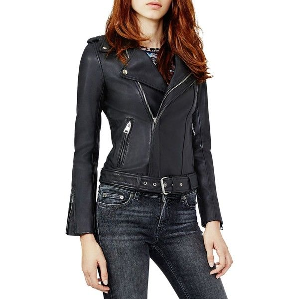 Leather · Maje Bocelui Leather Biker Jacket ...