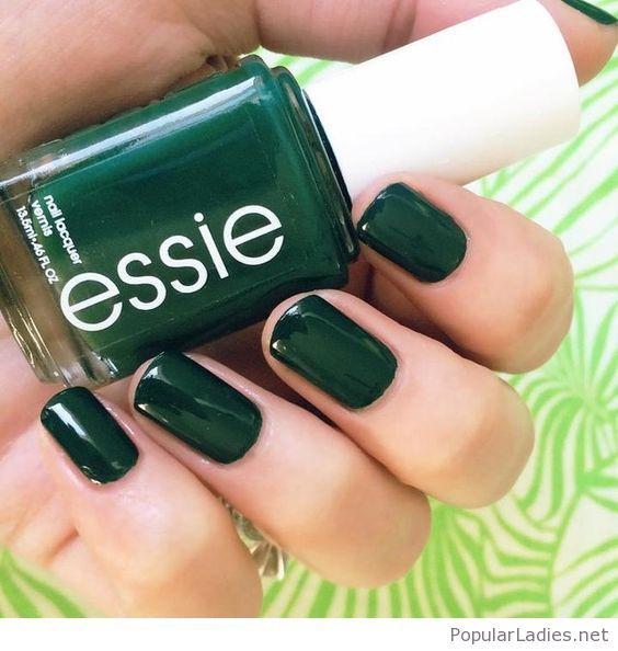 green essie nail polish