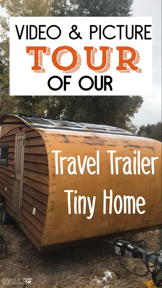 Video and picture tour of our travel trailer tiny home. #tinyhouseonwheels #tinyhome