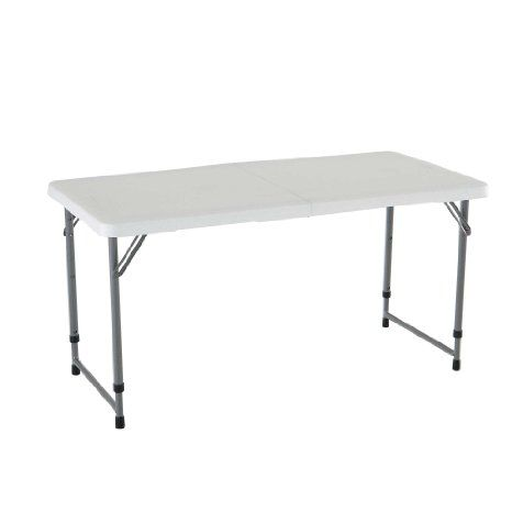 80160 Lifetime 4ft Adjustable Folding Table Competitive Edge Products Adjustable Height Table Folding Table Legs Folding Table