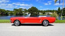 Ford : Mustang GT 289 V8 C-Code automatic air condition power steering classic red luggage rack