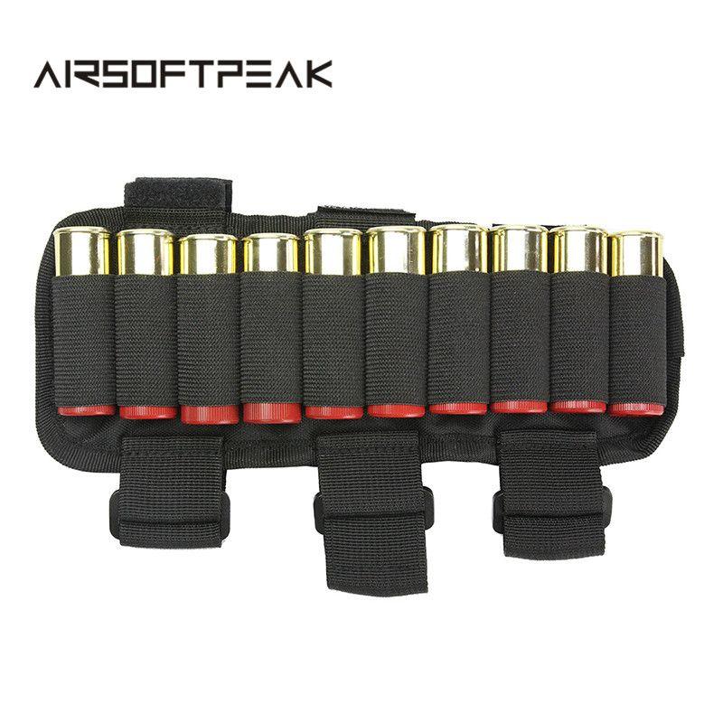 Airsoftpeak Tactical Shooters Forearm Shotgun Shell Pouch 12ga Ammo