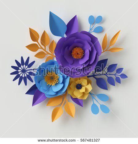 3d Render Digital Illustration Yellow Blue Stock Illustration 567481327