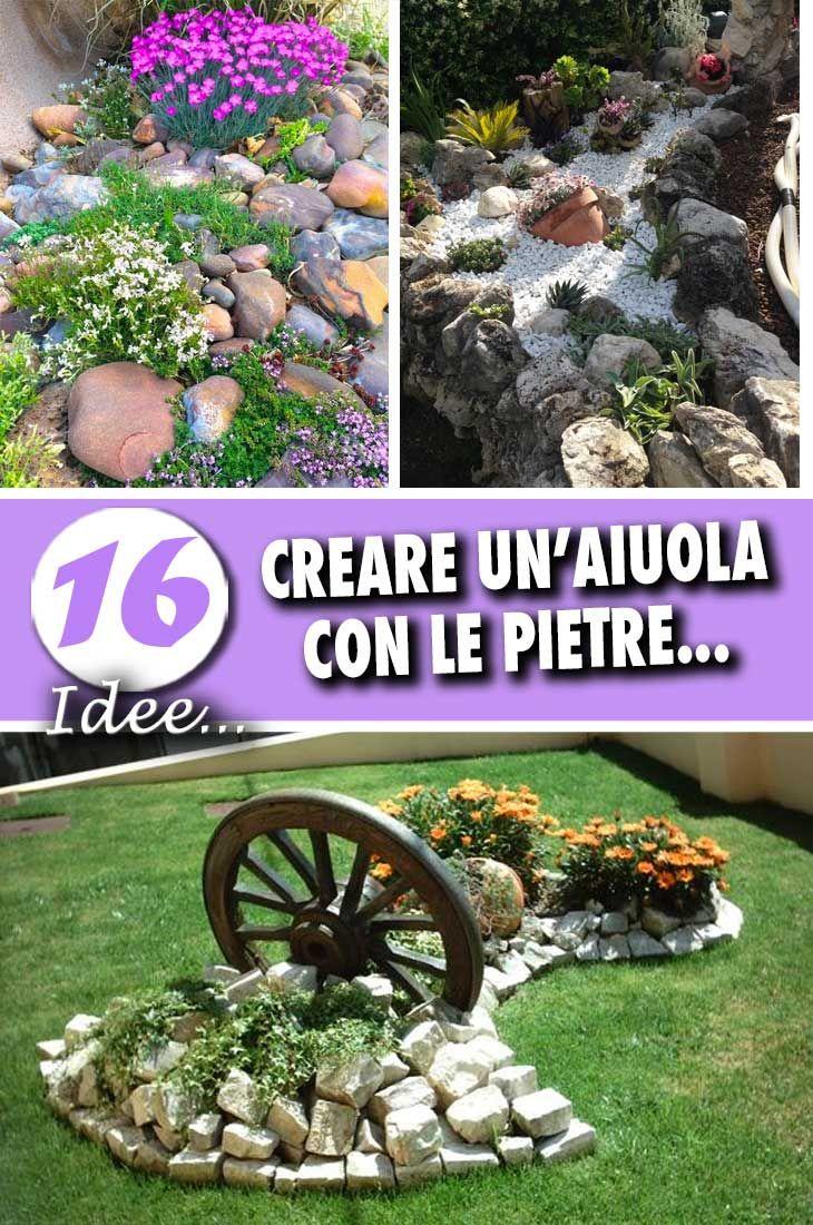 Un aiuola da giardino con le pietre 16 idee fai da te da for Idee per il fai da te