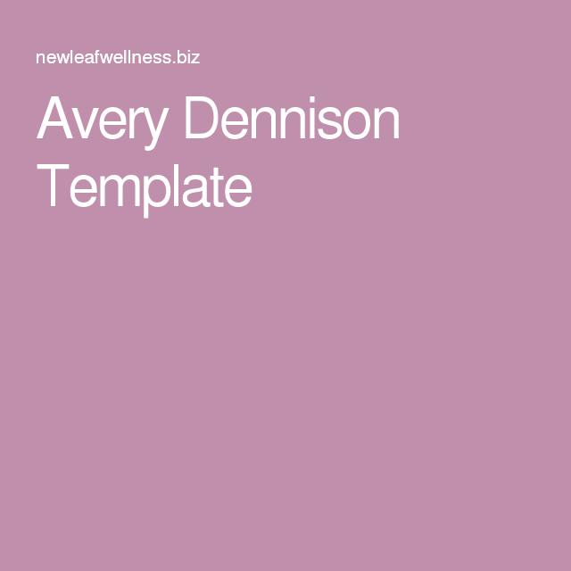Avery Dennison Template Essential Oils Pinterest
