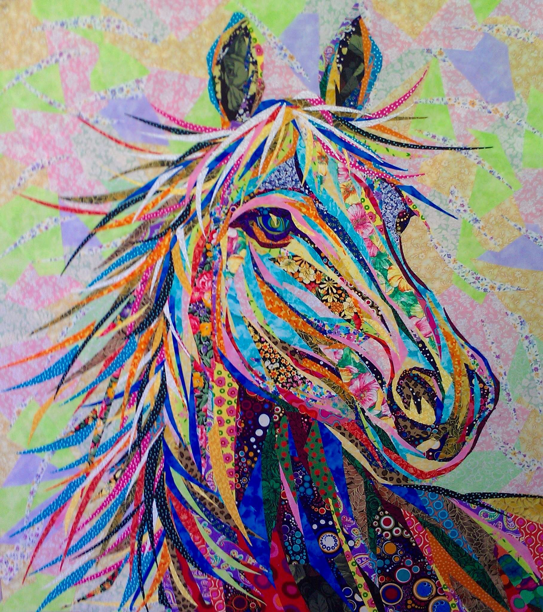 Danny Amazonas. I can't decide to put this in Quilts or Art? | Art ... : horse quilting fabric - Adamdwight.com