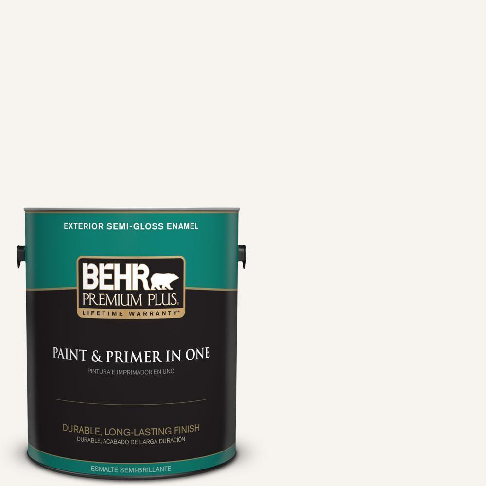Behr Premium Plus 5 Gal Home Decorators Collection Hdc Md 08 Whisper White Hi Gloss Enamel Interior Exterior Paint 805005 The Home Depot Exterior Paint Behr Premium Plus Ultra Behr Marquee