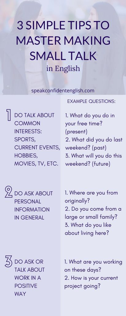 3 Simple Tips and Easy Questions to Master Small Talk in