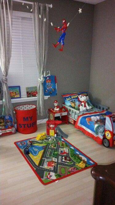 Paw Patrol Inspired Room Boy Toddler Bedroom Toddler Rooms