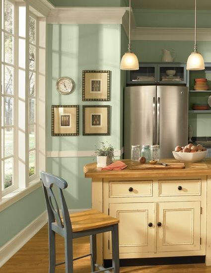 Behr Minted Lemon Perfect Mint Color For Kitchen