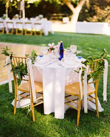 Chair decor :: #wedding #seating #chairdecor