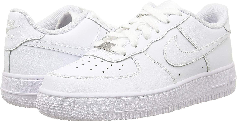 Nike Air Force 1 Unisex Kinder Sneakers Weiss 117 White White White 35 5 Eu Amazon De Schuhe Handtaschen Royxa