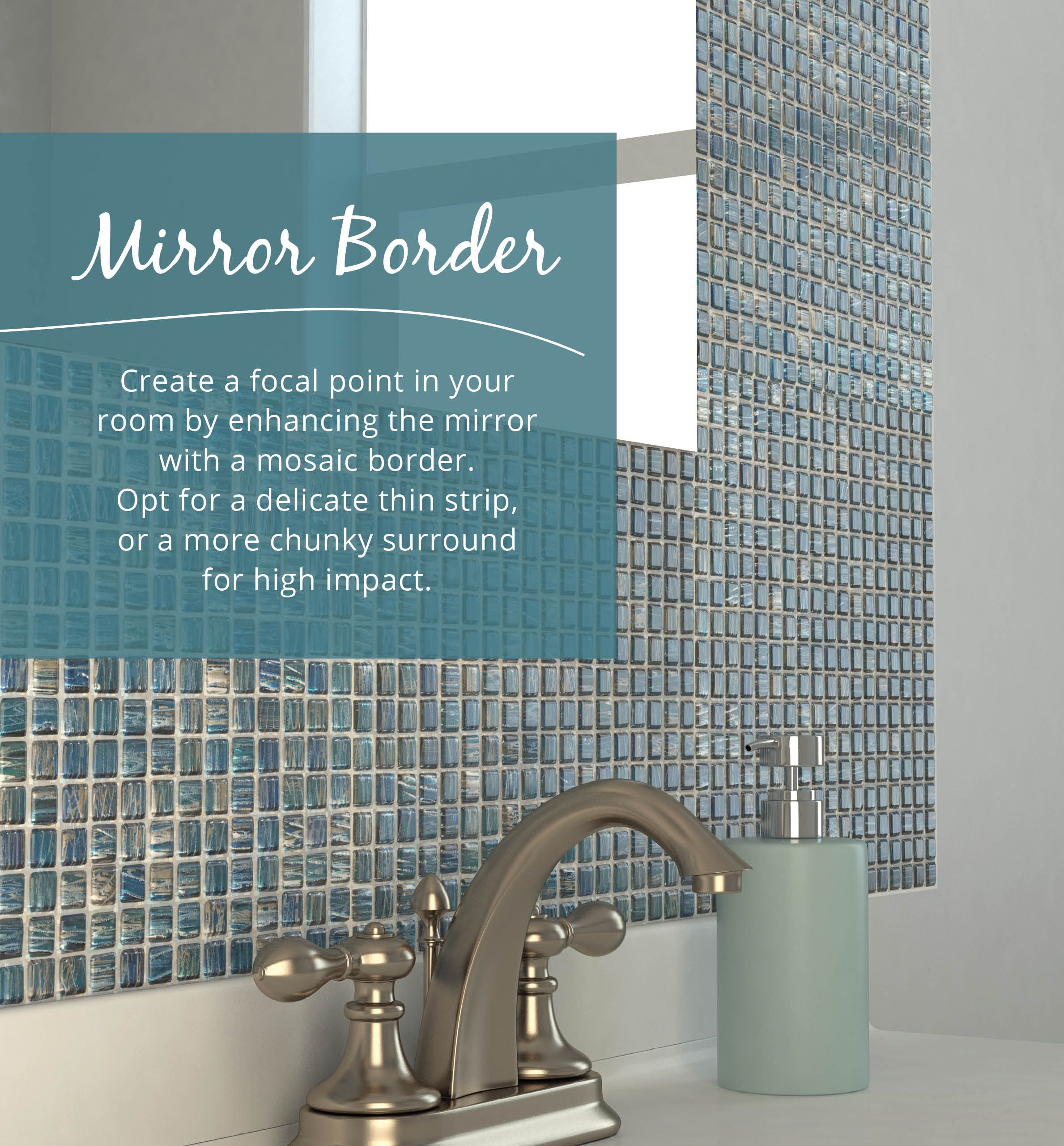 Customise a mirror in your room by creating a mosaic border with our ...