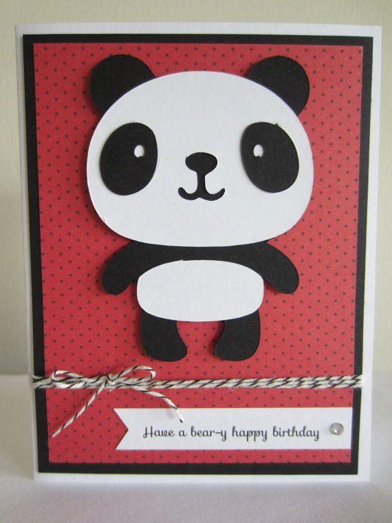 Panda birthday card die cut handmade pun punny by hawaiipaperparty panda birthday card die cut handmade pun punny by hawaiipaperparty bookmarktalkfo Image collections
