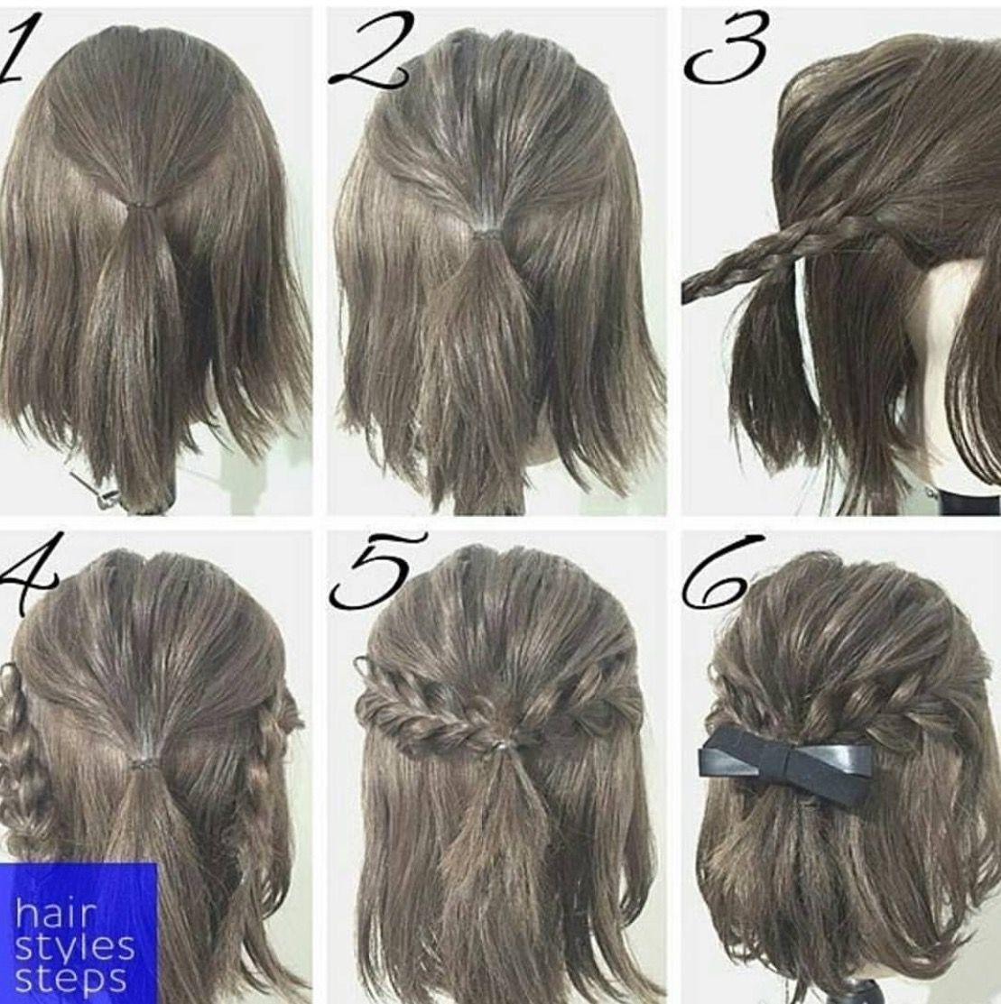 Pin By Karen Clark On Stella Short Hair Styles Simple Prom Hair Hair Styles