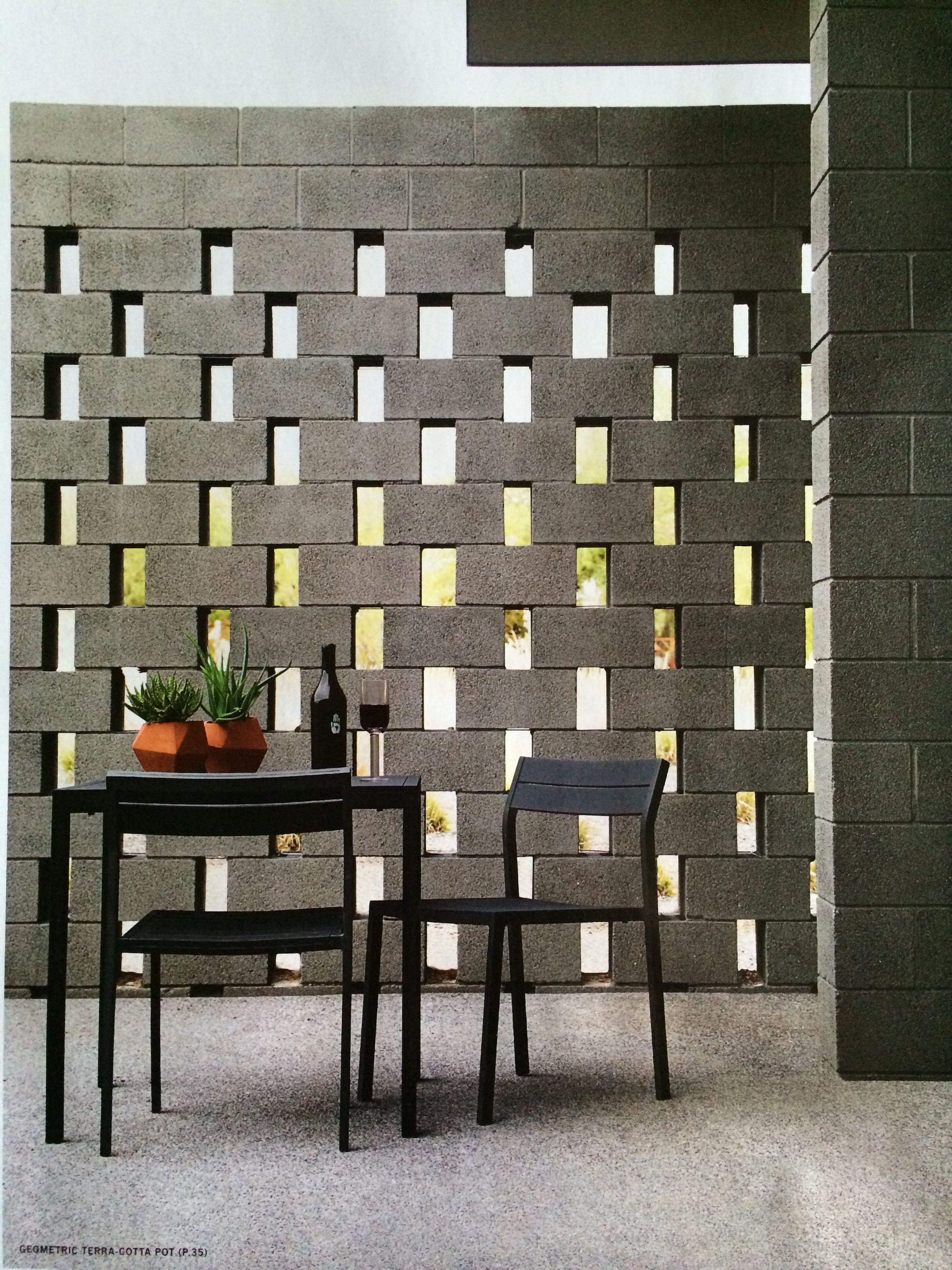 Concrete Block Trellis For Outdoor Wall Cinder Block Walls Concrete Block Walls Breeze Block Wall
