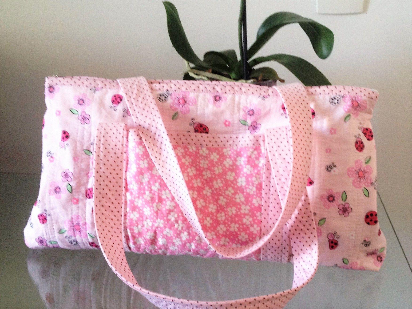 Bolsa De Praia Em Tecido Passo A Passo : Acompanhe como fazer uma bolsa de praia tecido forrada