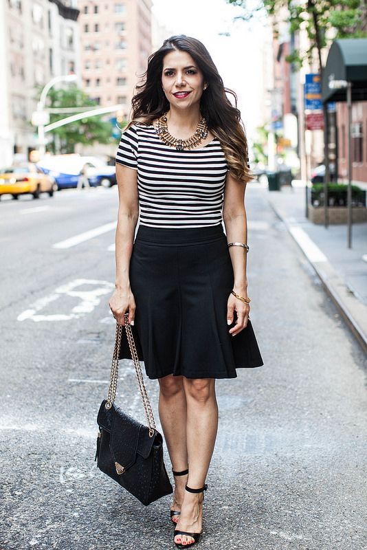 STRIPEd Crop Top zara black heels cropped top H&M top kate spade ...