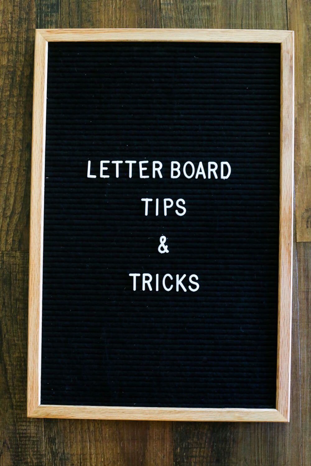 Tips & tricks for using a felt letter board in your home ...