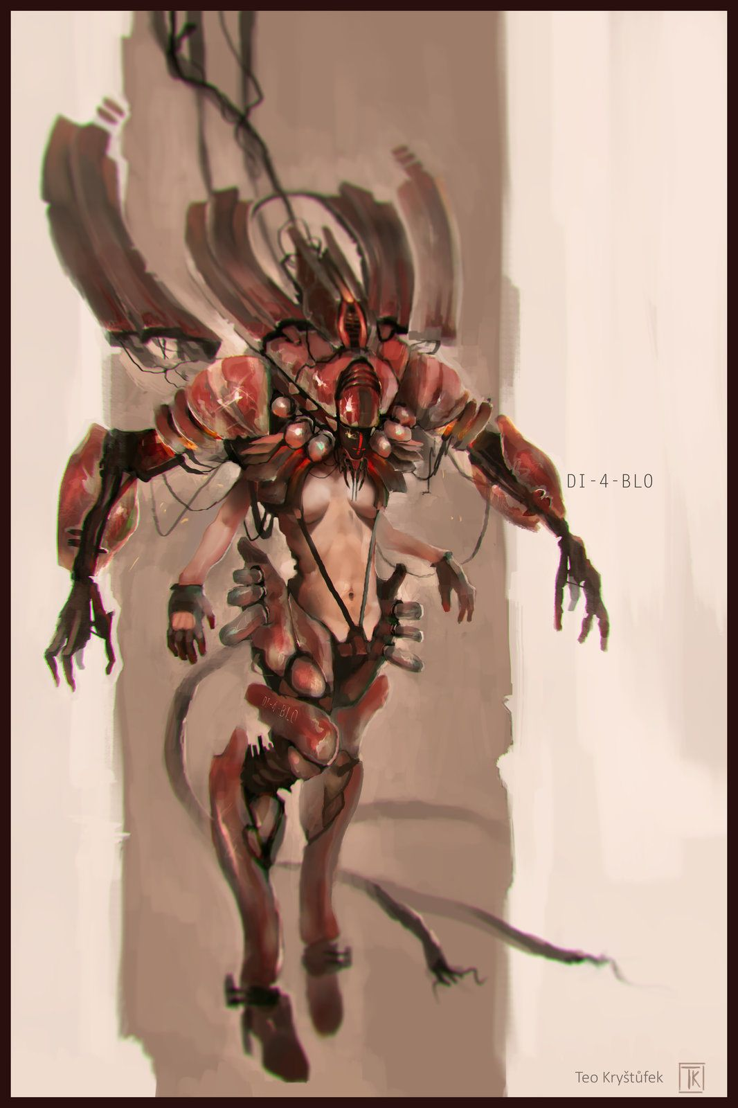 Diablo redesign, Teo Kryštůfek on ArtStation at https://www.artstation.com/artwork/diablo-redesign-1b3304c2-384c-4ae1-86af-bfb315f06ea4