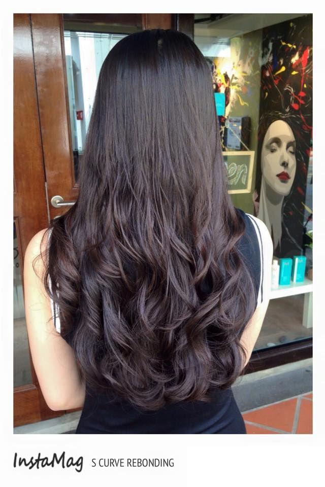 S Curve Rebonding Hair Style