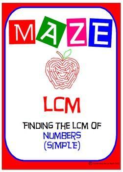 {FLASH FREEBIE} Maze - LCM of numbers - Simple