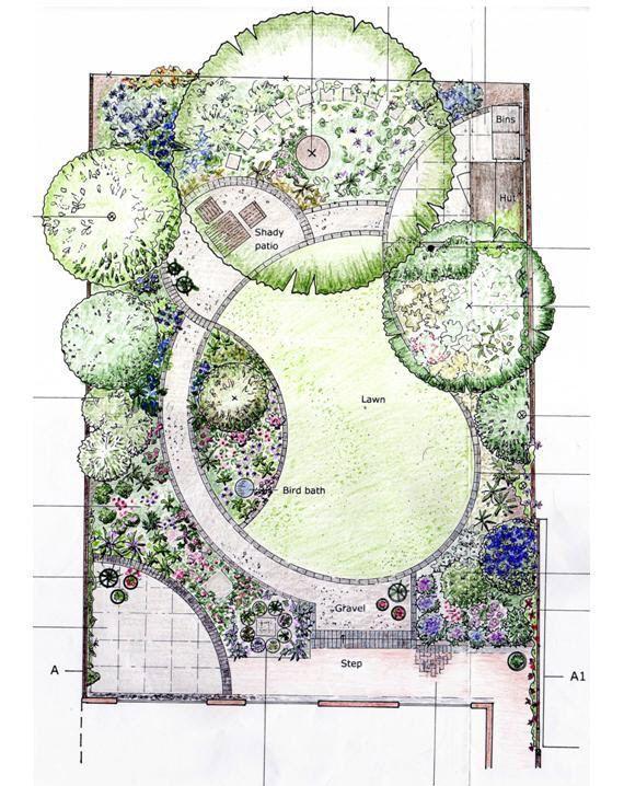 Designing Garden Layout I M Loving The Curves In This Layout Blumengarten Design Garten Grundriss Garten Design Plane